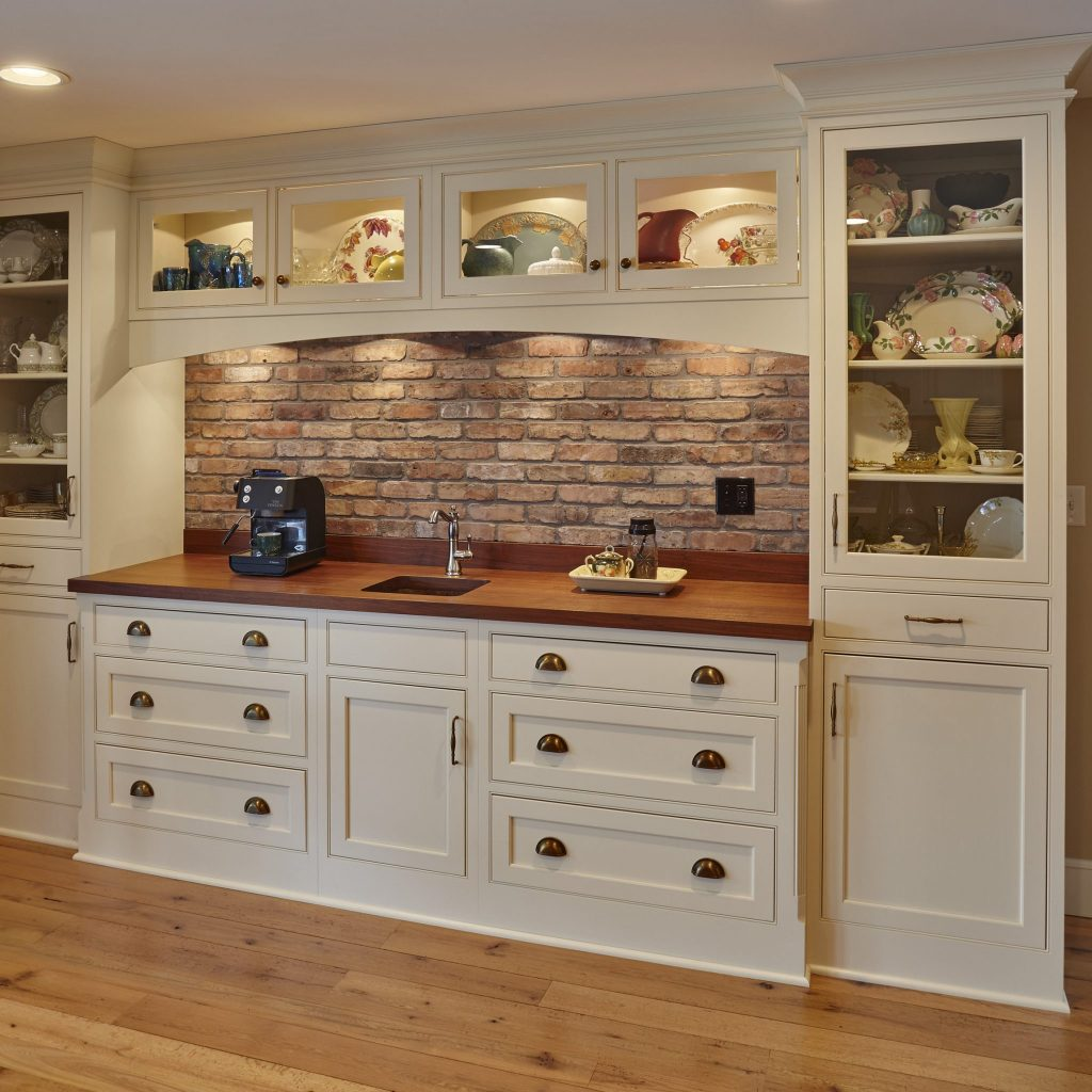 Wood kitchen countertop installed by Richard's Kitchen and Bath
