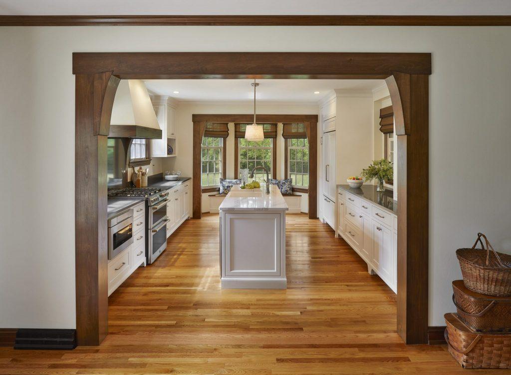 Custom Beams in Kitchen